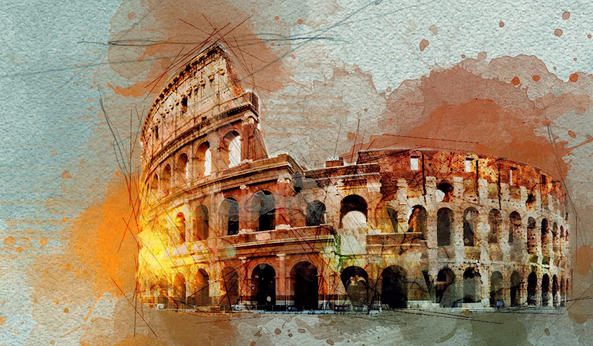 水彩素描Photoshop动作插件 包含笔刷、图案、动作 一键生成水彩效果